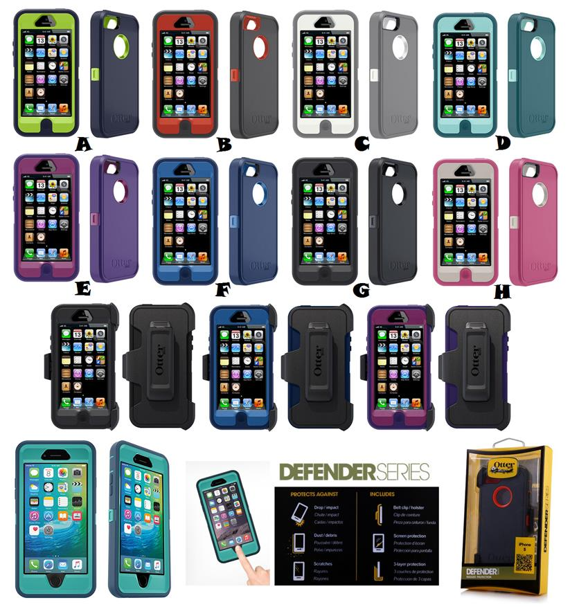 new product dd390 331cb iPhone 5 5S SE 6 6S Plus TOUCH ID OTTERBOX DEFENDER SERIES Case Cover