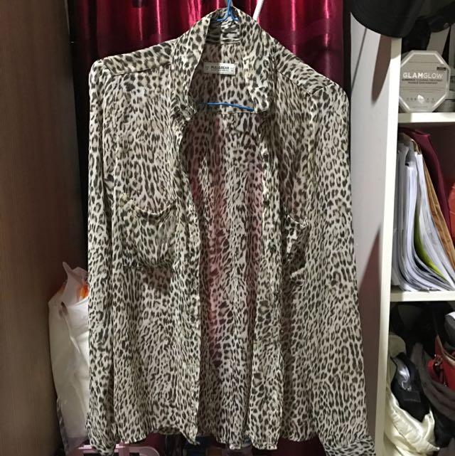 Kemeja Pull&Bear Leopard