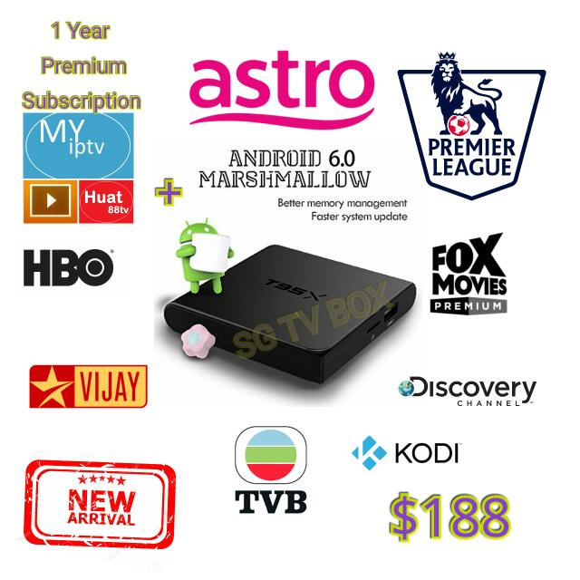 Latest Android marshmallow S905X Chip , Sunvell T95X TV Box