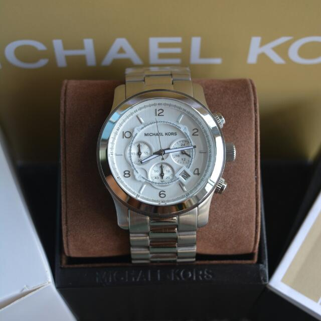 Michael Kors Overized Runway Silver Mens Watch (MK8086)