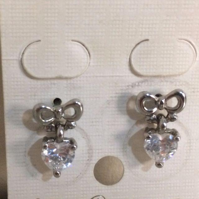 Mini bow & heart earings
