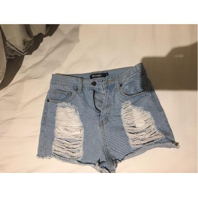 MISSGUIDED high waisted denim shorts