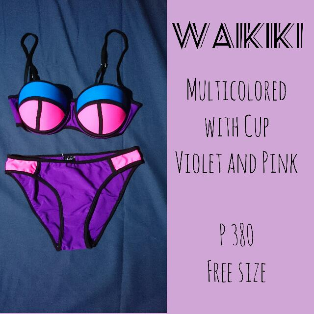 SALE! Multi-colored with Cup Two-piece Swimsuit