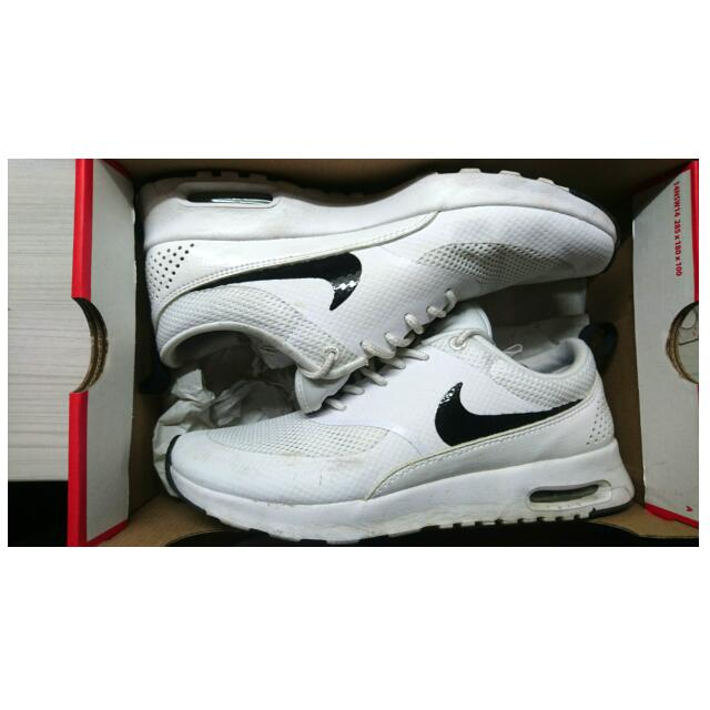 Nike Air max Thea 女鞋 低筒 運動 氣墊 慢跑 白 黑#運費我來出#降價