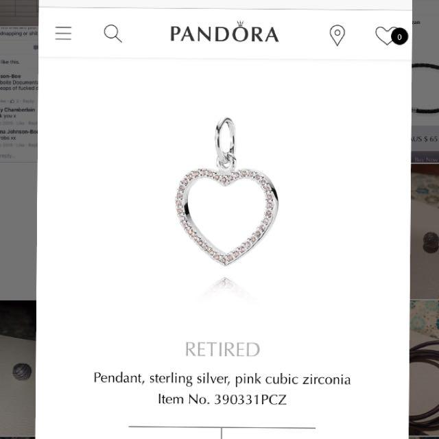 Pandora Love Heart Pendant