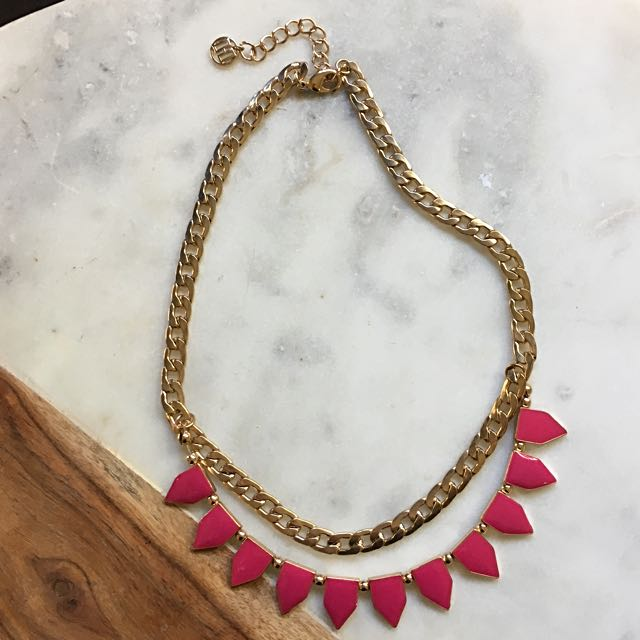 Pink And Gold Necklace