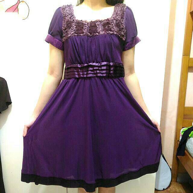 Purple Flowers Dress