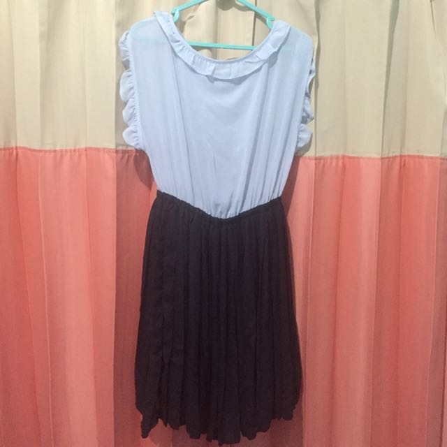 Short Dress Blue Black