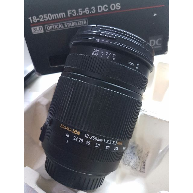 Sigma 18-250mm f3.5-6.3 DC OS Optical Stabilizer HSM Hypersonic Motor for Canon