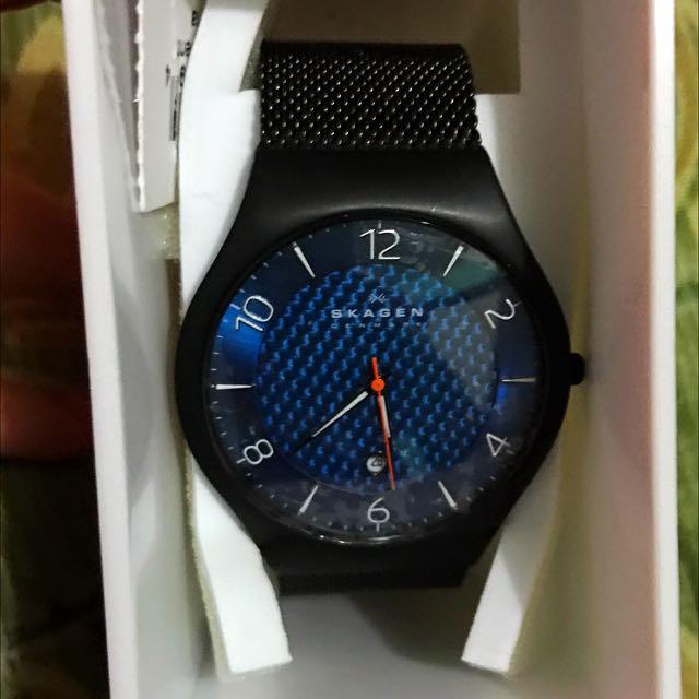 Skagen Mesh Blue Dial Watch