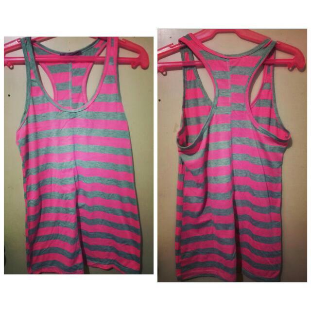 Striped Sleeveless Sexy Top