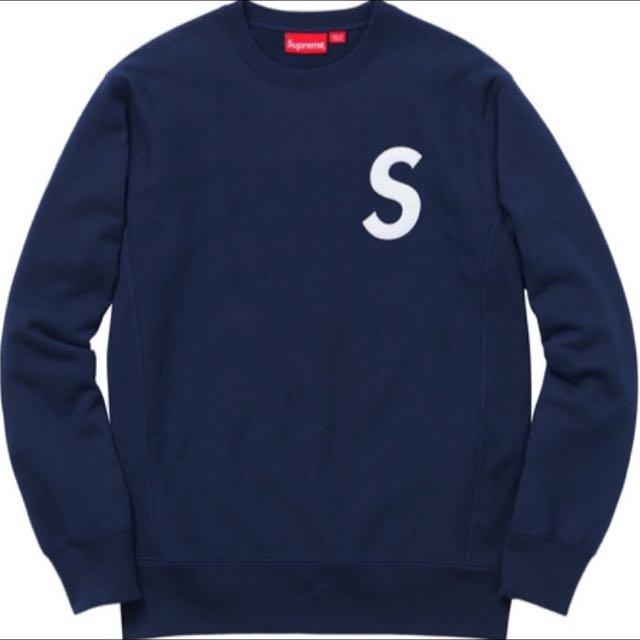 Supreme S Logo Crewneck Navy