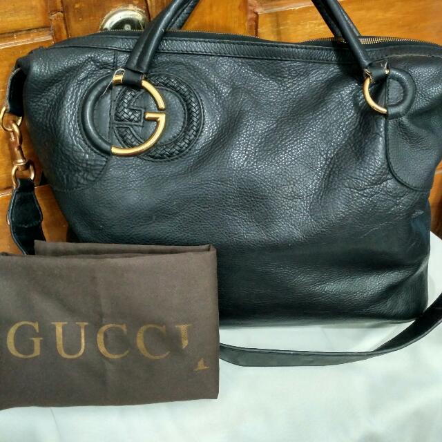 Tas Hitam Merk Gucci (Replika)