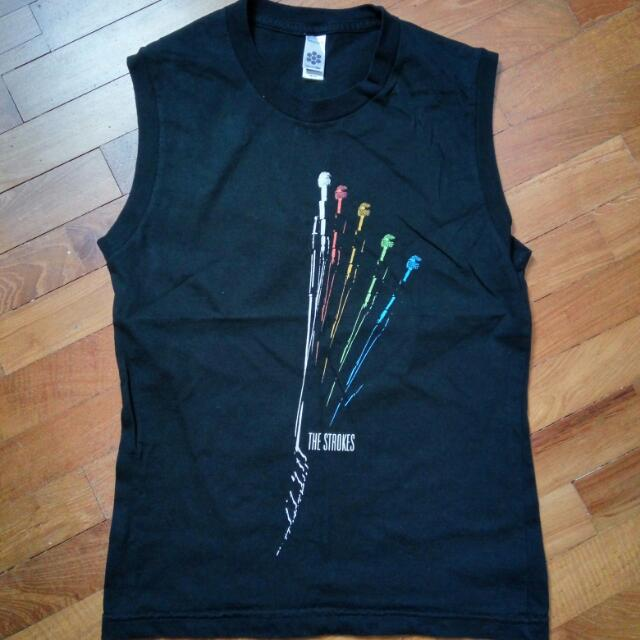 cb48c9690cd The Strokes American Apparel Concert Muscle T Shirt Tank Top ...