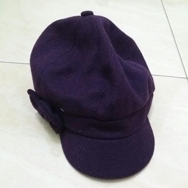 Topi Barret Ungu