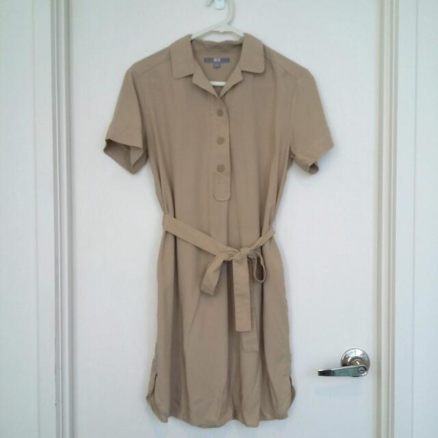 UNIQLO Tan Dress- Size S