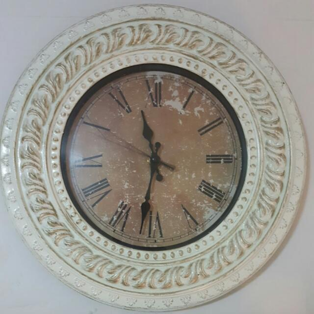 Vintage Victorian White Wall Clock