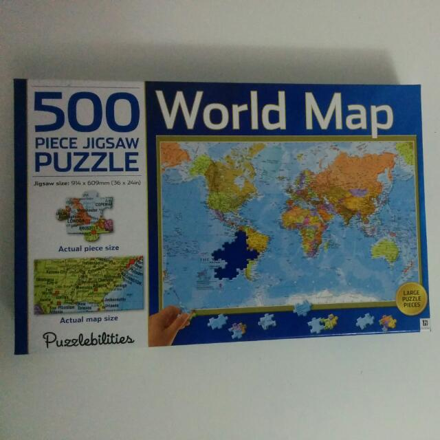 World Map Jigsaw Puzzle