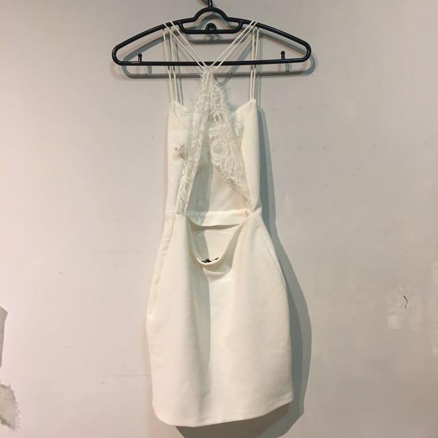 dbaf9ffa7412b Zalora Lace Open Back Dress