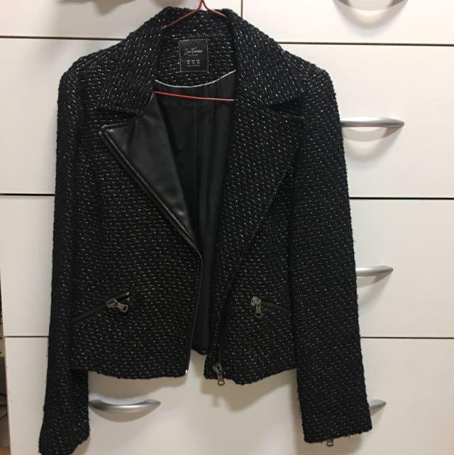 春裝來了!ZARA 騎士風毛呢拼皮領外套+降價囉!🇯🇵日本購入~C.O.L.Z.A灰色黑蕾絲洋裝