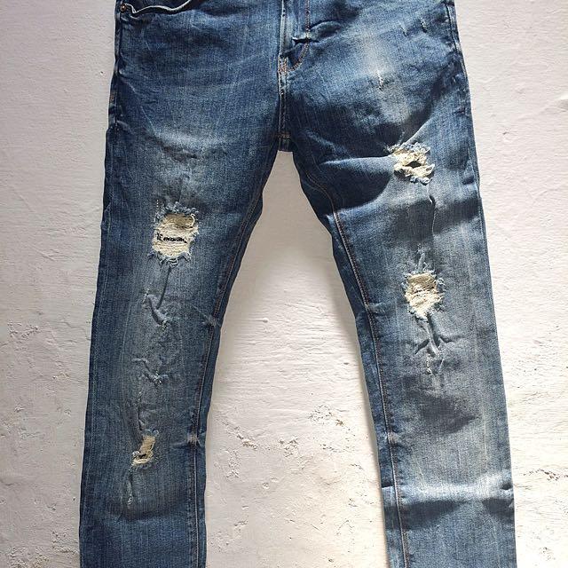 Zara Man Ripped Jeans Original