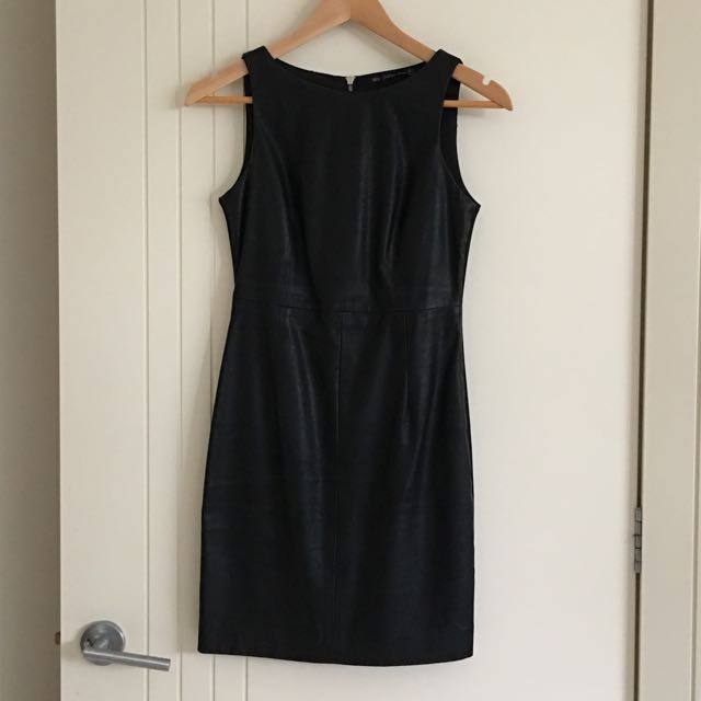 Zara TRF LBD Leather Look