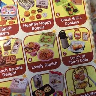RE-MENT LOVELY DANISH BAKERY PUCHI PETITES MINIATURE FOOD SET BREAD & BUTTER