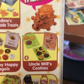 RE-MENT UNCLE WILL'S COOKIES PUCHI PETITES MINIATURE FOOD SET BREAD & BUTTER