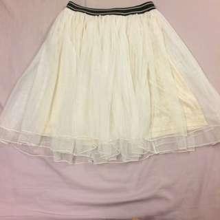彈性腰圍紗裙