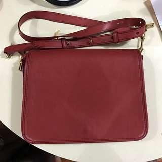Rabeanco Leather Bag (orange red)