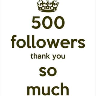 Thank You 500 Followers!!