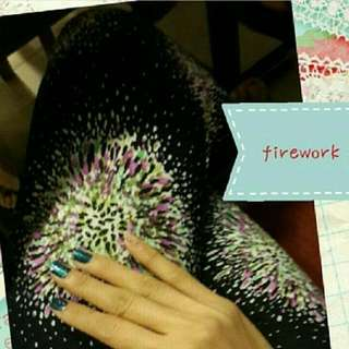 PRELOVED BY NEW : LEGGING SUPER COMFY : FIREWORK