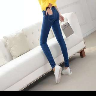 全新韓版高腰牛仔褲(27)