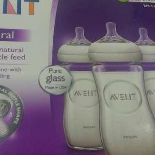 SALE! SALE! SALE! Avent Natural Glass Bottles, 8 oz