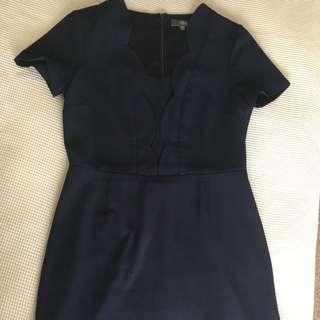 Navy Office Dress