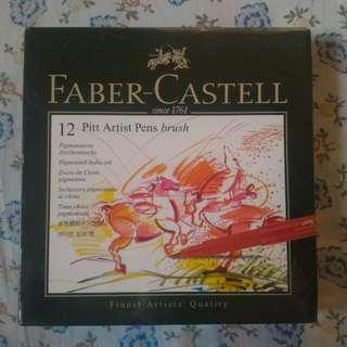 Faber Castell 12 Pitt Artist Pens Brush SEALED