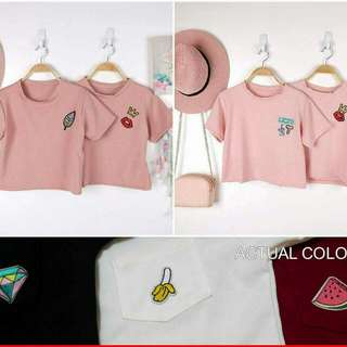 Plain Top With Patches