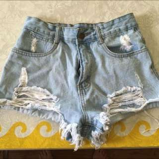 High Waisted Cut Off Shorts
