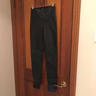 Dotti High waisted Leather Jeans