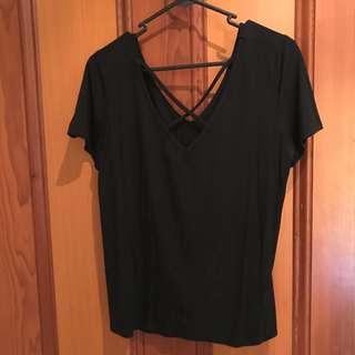 Black Tshirt With X