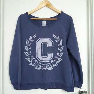 ZARA Blue Sweatshirt- Size L