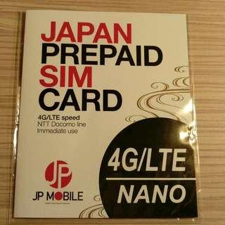 DOCOMO4G日本上網卡