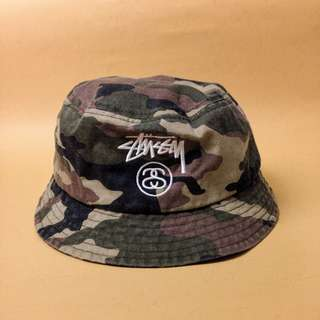 Authentic Stussy Stock Lock Bucket Hat