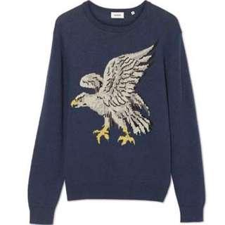 MARCS Goldman Eagle Print Knit Jumper New S/M