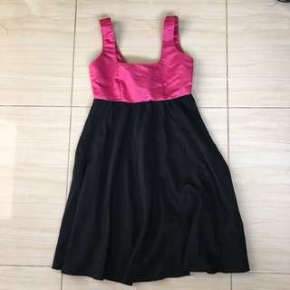 pink and black dress