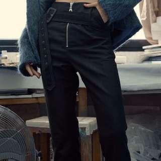 ES MUSS SEIN設計師品牌 高腰修身扣帶褲