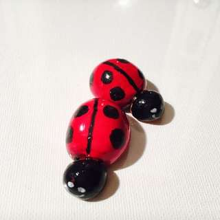Clay Hand Made Ladybugs