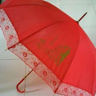 Red Wedding Umbrella ☔