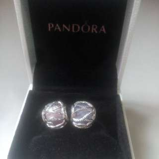 SALE! PANDORA CHARM: Pink Nature's Radiance AND Purple Intertwining Radiance