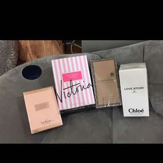 Vic Secret, Chloe, Marc Jacobs Perfume